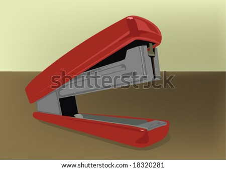Stapler on a desktop