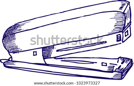 Staples Sketch Illustration Stock Vector 1023973327