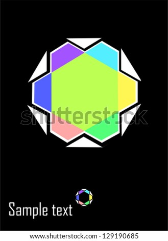 Star- Abstract design element - stock vector