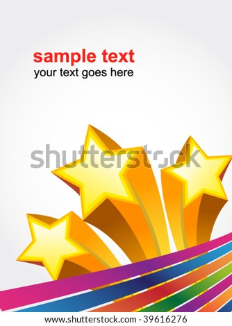 star abstract poster