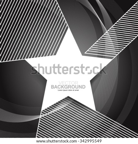 Star and Lines Modern Design Background - stock vector