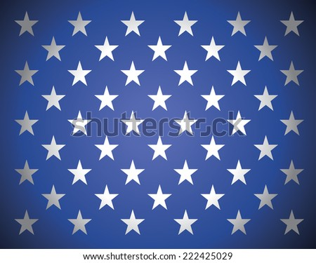 Star background in american's flag colors - stock vector