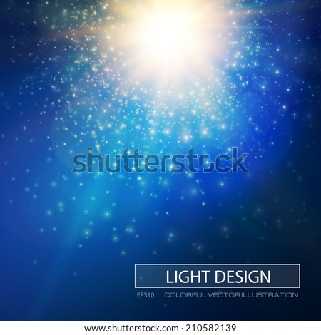 Star burst light background. Vector illustration - stock vector