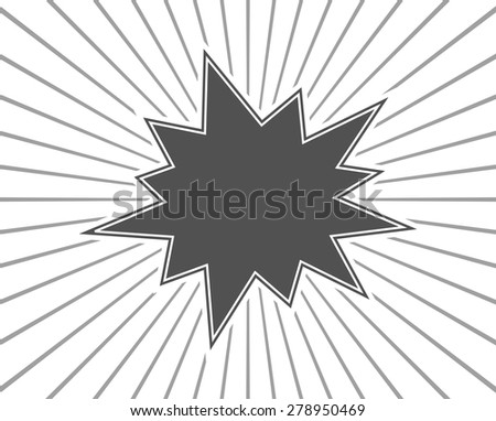 star burst splash black background template - stock vector