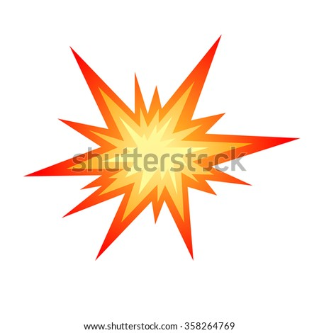 Star bursting boom.Comic book explosion. Hand drawn vector illustration - stock vector