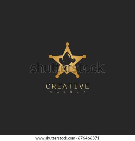 Star Cowboy Logo Stock Vector 676466371 Shutterstock