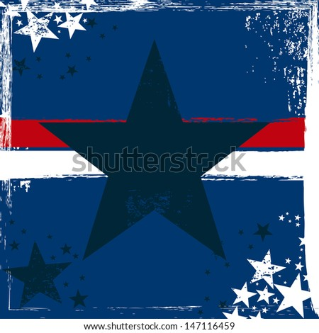 star design over blue background vector illustration