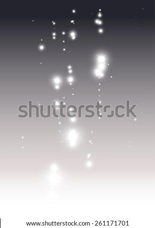Star fall vector abstract background illustration - Abstract sparks and glitters vector background illustration - stock vector