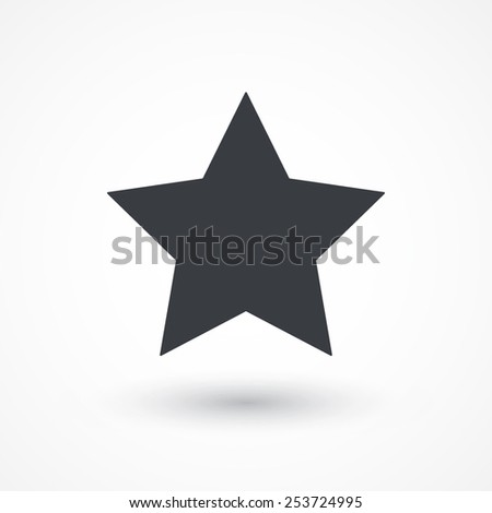 Star, favorite icon, vector illustration. Flat design style - stock vector