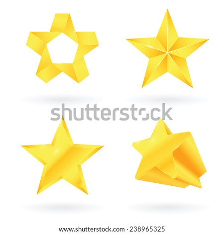 Star gold - stock vector