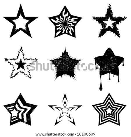 star graphics - stock vector