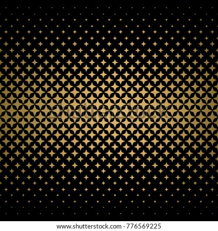 star halftone gradients, gold and black vector background