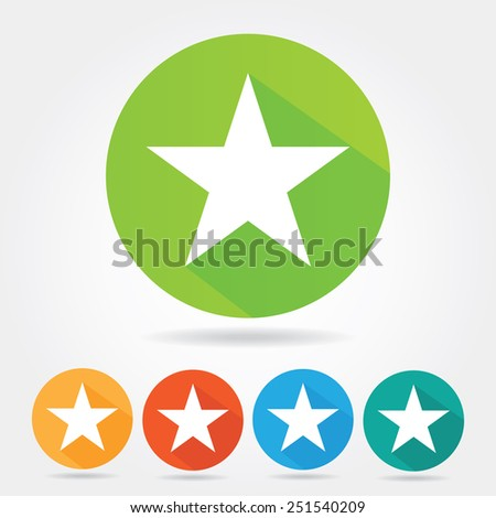 Star icon. Flat design - stock vector
