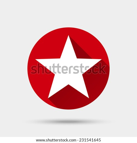 Star icon. Flat style vector illustration - stock vector