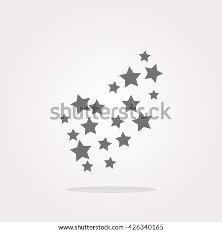 Star icon, Star icon set vector illustration