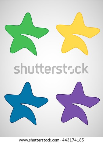 Star icon vector. - stock vector