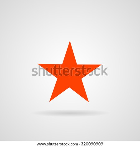 star icon, vector illustration. Flat design style. - stock vector