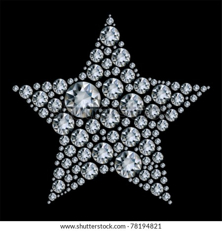 Star in diamonds. - stock vector