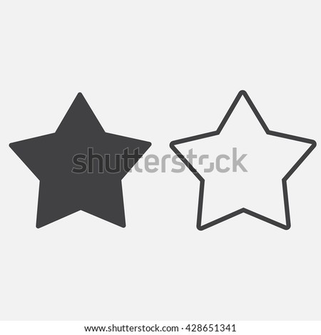 Star line icon outline solid vector stock vector 428651341 star line icon outline and solid vector logo linear pictogram isolated on white sciox Images