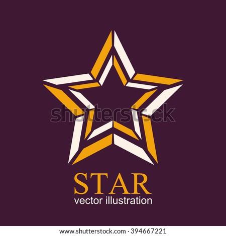 Star logo. Star icon. Star Icon vector. Star logo vector. Star Icon art. Star logo art. Star logo EPS10. Abstract vector illustration - stock vector