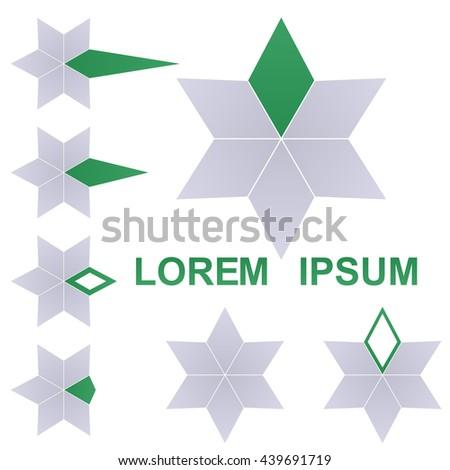 Star logo vector. Star icon symbol design template set. - stock vector