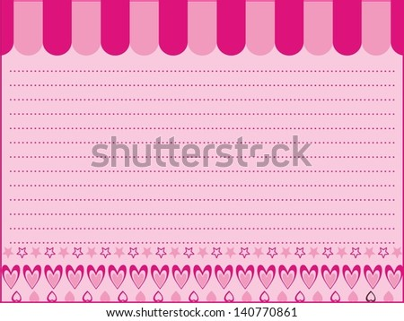 star love paper background - stock vector