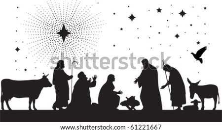 Star of Bethlehem. All elements and textures are individual objects. Vector illustration scale to any size. - stock vector