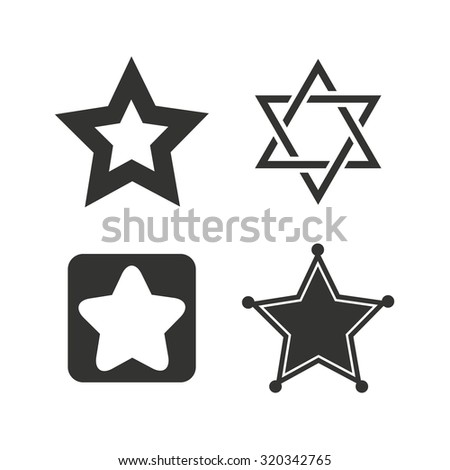 ... silver and bronze stars on white background, vector eps10 illustration