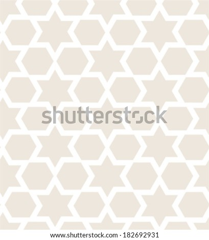 Star of David seamless pattern - stock vector
