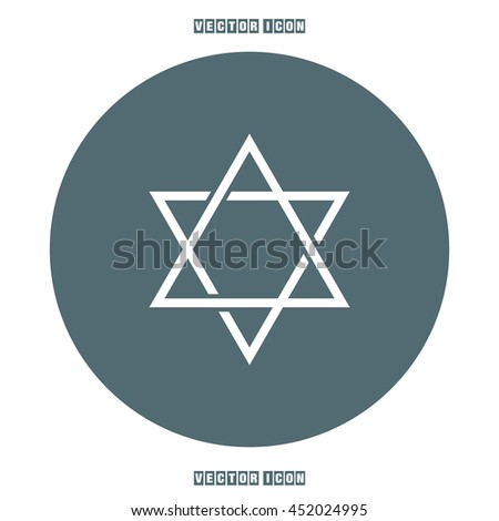 Star of David sign vector icon