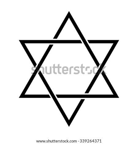 Star David Symbol Judaism Stock Vector Hd Royalty Free 339264371