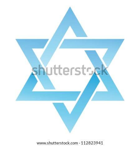 Star of David. Vector illustration. - stock vector