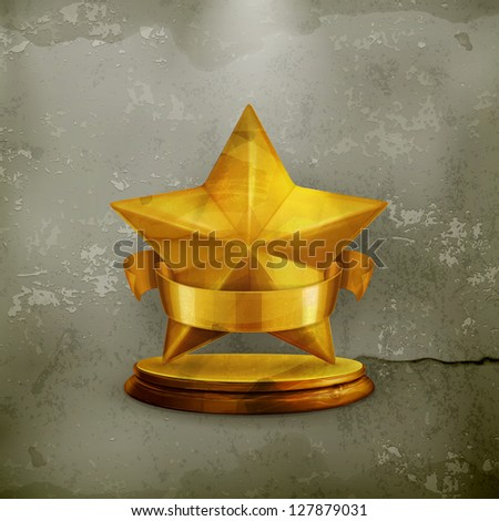 Star, old-style vector - stock vector
