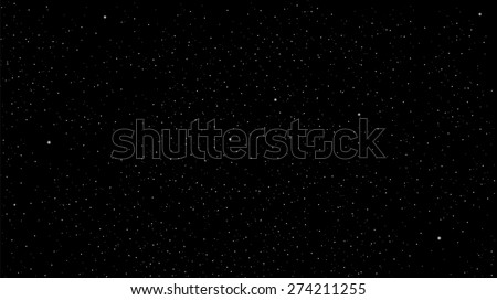 Star on a black background. Star Sky - stock vector