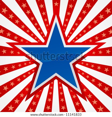 Star on a Burst Background - stock vector