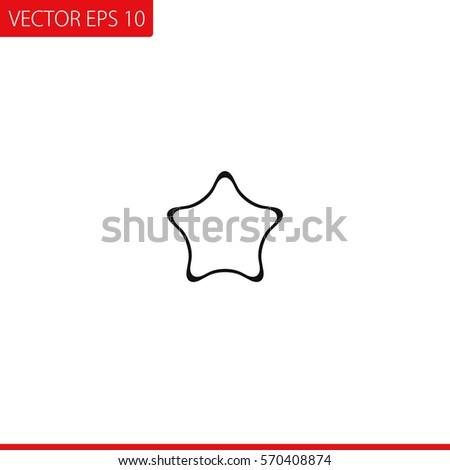 Star outline vector icon stock vector 570408874 shutterstock star outline vector icon sciox Images