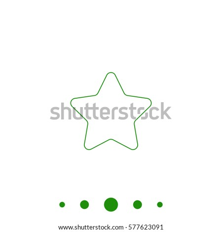 Star outline vector icon stock vector 565877884 shutterstock star outline vector icon contour line green pictogram on white background illustration symbol sciox Images