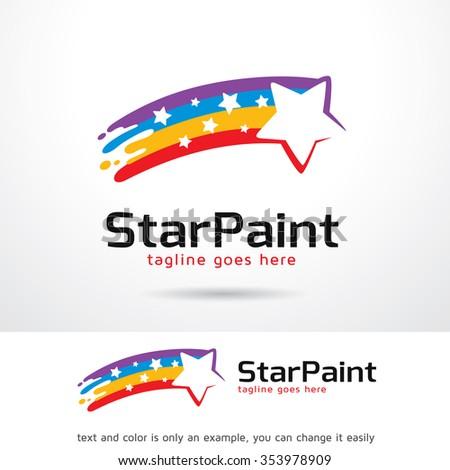 Star Paint Logo Template Design Vector - stock vector