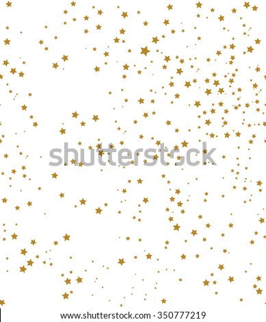 Star pattern. white, background, gold, gift wrap. Vector illustration. - stock vector