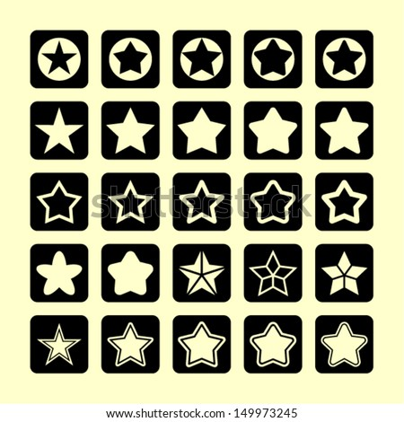 Star pictogram - stock vector