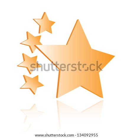 Star quality shiny rating icon
