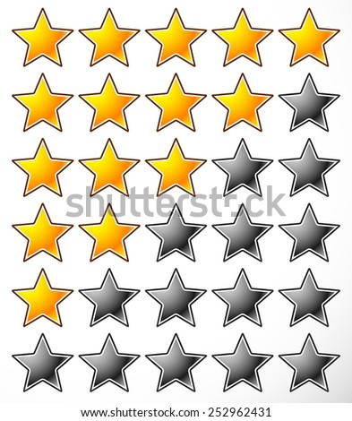 Star rating element / Template - stock vector