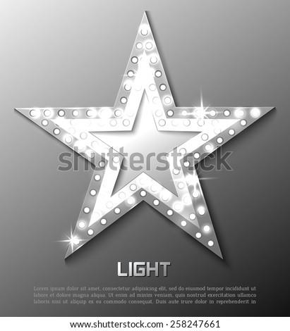 Star retro light banner. Vector illustration eps 10 - stock vector
