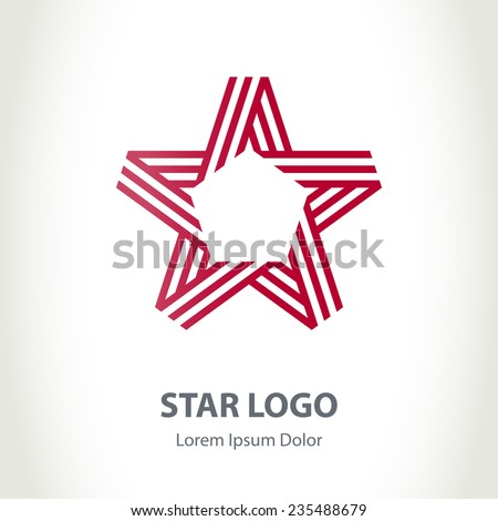 Star ribbon logo. Vector Corporate logotype template - stock vector