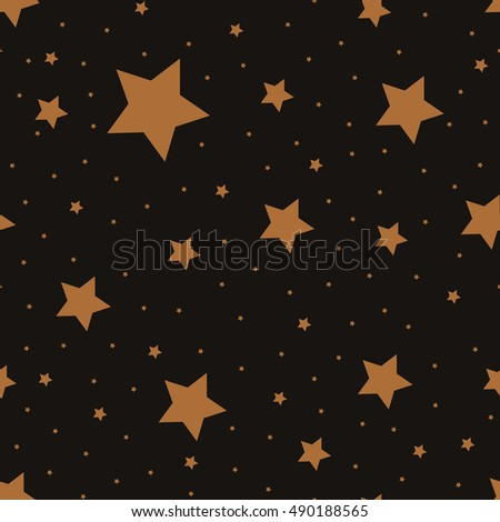 Star seamless pattern. Repeating star background