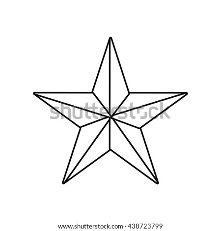 Star shape of five points design, success concept, vector graphi - stock vector