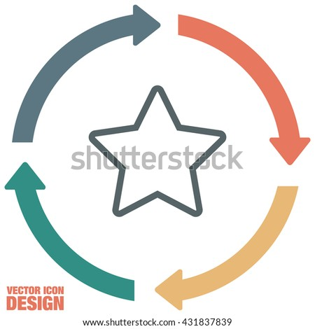 Star sign line vector icon. Add to favorites sign. Astronomy symbol. Bookmark icon.