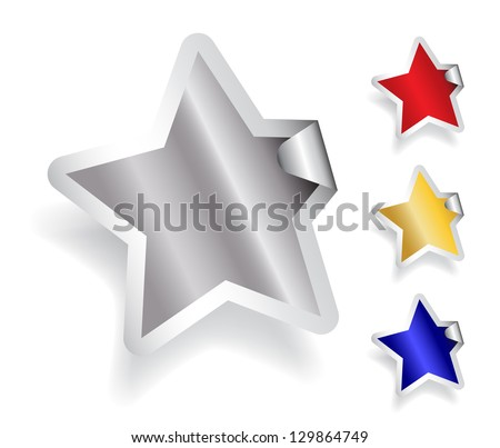 Star Sticker - stock vector