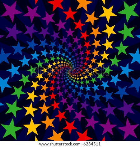 Star swirl burst - stock vector