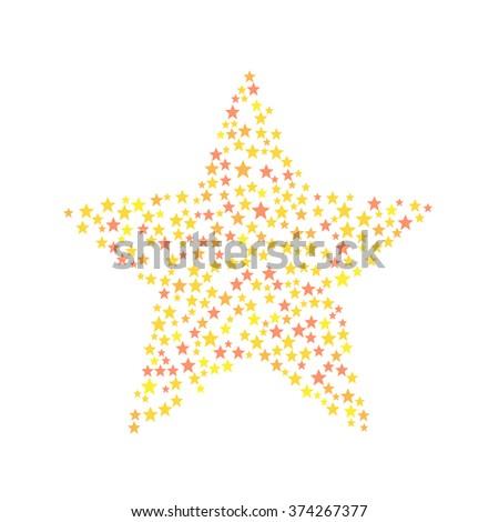 Star Symbol Consists Small Stars Stock Vector 374267377 Shutterstock